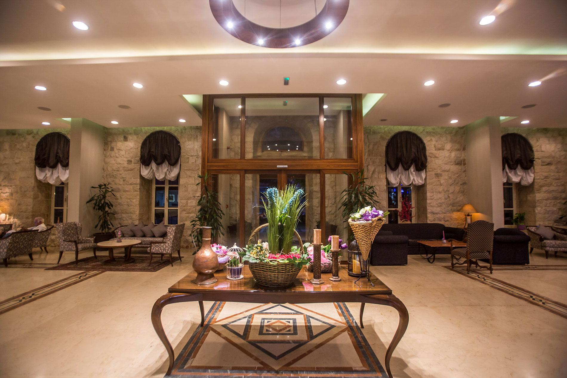 indoor lobby grand kadri hotel